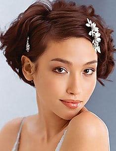 Свадебные прически на короткие волосы #13