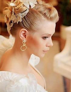 Свадебные прически на короткие волосы #16