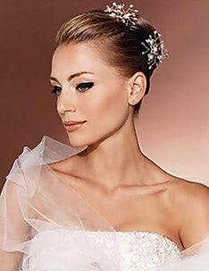 Свадебные прически на короткие волосы #22