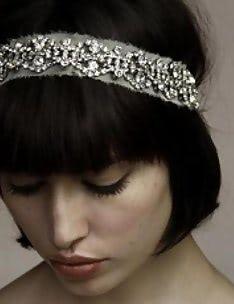 Свадебные прически на короткие волосы #26