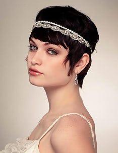 Свадебные прически на короткие волосы #31