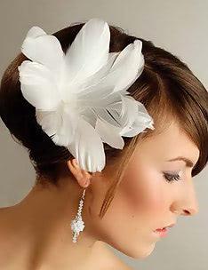 Свадебные прически на короткие волосы #34