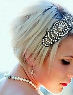 Свадебные прически на короткие волосы #36