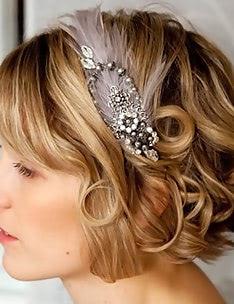 Свадебные прически на короткие волосы #37