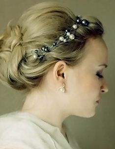 Свадебные прически на короткие волосы #40