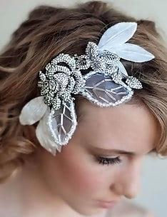 Свадебные прически на короткие волосы #44