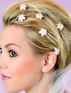 Свадебные прически на короткие волосы #47