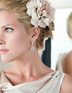 Свадебные прически на короткие волосы #48