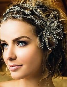 Свадебные прически на короткие волосы #49
