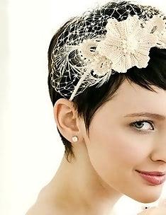 Свадебные прически на короткие волосы #52