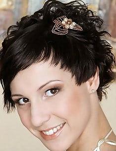 Свадебные прически на короткие волосы #53