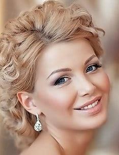 Свадебные прически на короткие волосы #54