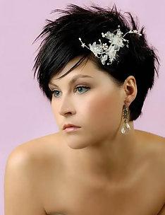 Свадебные прически на короткие волосы #57