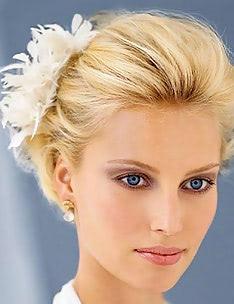 Свадебные прически на короткие волосы #56