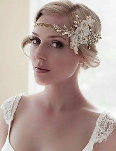 Свадебные прически на короткие волосы #59