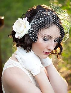 Свадебные прически на короткие волосы #60