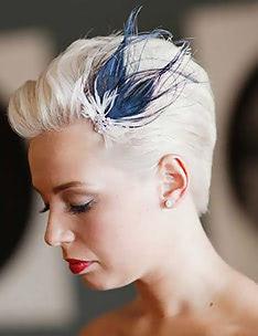 Свадебные прически на короткие волосы #61