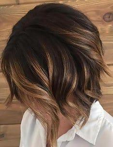 Балаяж на темные волосы #09