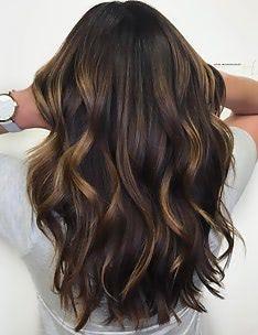Балаяж на темные волосы #10