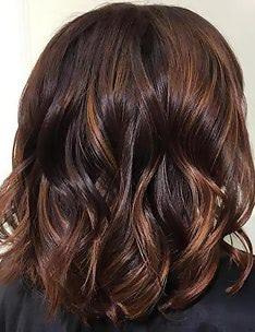 Балаяж на темные волосы #13