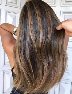 Балаяж на темные волосы #16