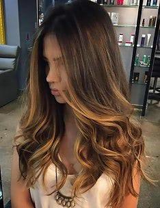 Балаяж на темные волосы #19