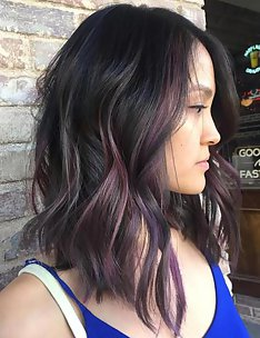 Балаяж на темные волосы #22