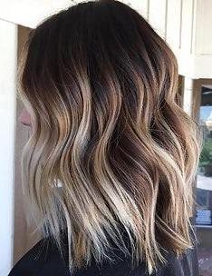 Балаяж на темные волосы #23