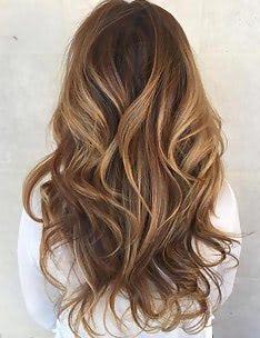 Балаяж на темные волосы #24