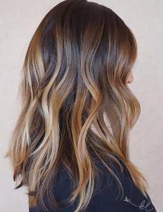 Балаяж на темные волосы #25