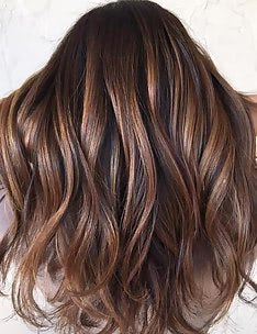 Балаяж на темные волосы #30