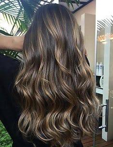 Балаяж на темные волосы #33