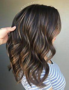 Балаяж на темные волосы #35