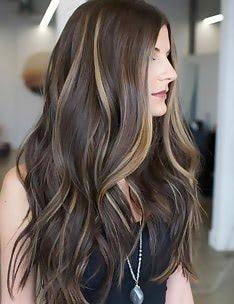 Балаяж на темные волосы #37