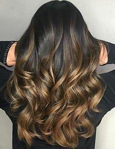 Балаяж на темные волосы #40