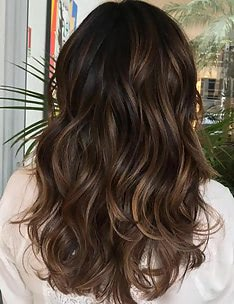 Балаяж на темные волосы #44