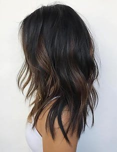 Балаяж на темные волосы #46