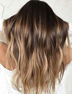 Балаяж на темные волосы #49
