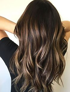 Балаяж на темные волосы #50