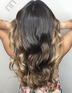 Балаяж на темные волосы #53