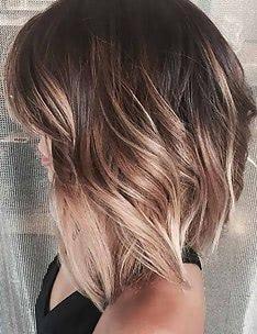 Балаяж на темные волосы #57