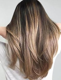 Балаяж на темные волосы #58