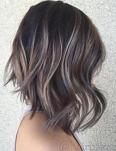 Балаяж на темные волосы #59