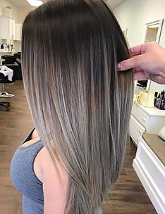 Балаяж на темные волосы #60