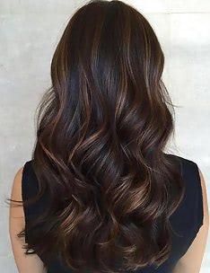Балаяж на темные волосы #63