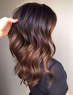 Балаяж на темные волосы #70