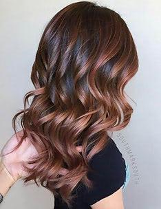 Балаяж на темные волосы #71