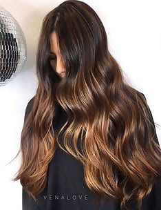 Балаяж на темные волосы #73