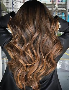 Балаяж на темные волосы #74