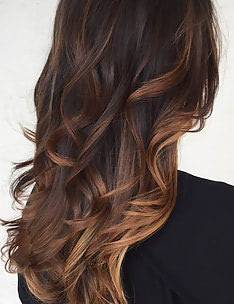 Балаяж на темные волосы #75